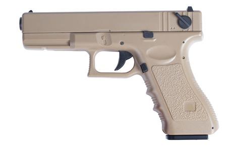 Glock automatic 9mm handgun pistol isolated on a white background photo