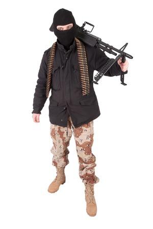 machine gun: terrorist with m60 machine gun
