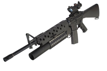 M16 rifle with an M203 grenade launcher Banco de Imagens