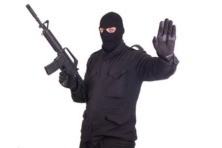 mercenary: mercenary with CAR15 rifle