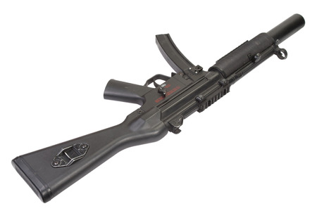 submachine gun MP5 with silencer isolated photo