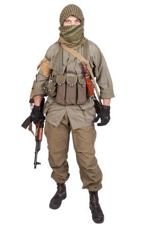 mercenary with AK 47 gun photo