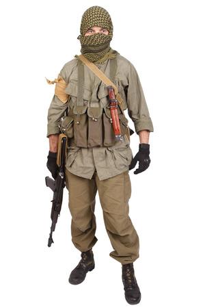 mercenary with AK 47 Archivio Fotografico