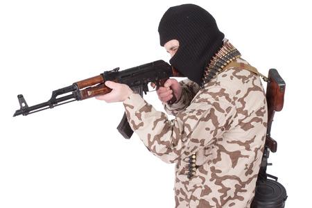 akm: soldier with AK rifle