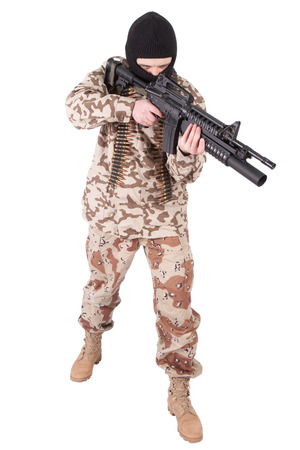 soldier with m4 carbine photo