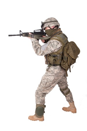 acu: US ARMY soldier with m4 carbine
