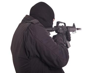mercenary with m16 rifle photo