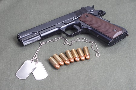 45 gun:  government m1911ound with government m1911