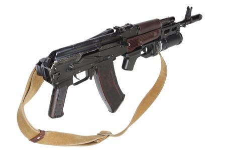 ak 74: Kalashnikov AK with GP-25 grenade launcher Stock Photo