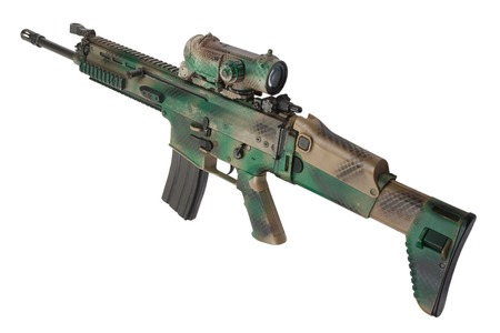 special operations: Special Operations Forces Combat Assault Rifle isolated