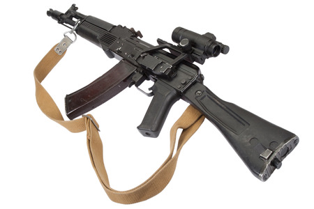 airborn: rifle with optic sight on white