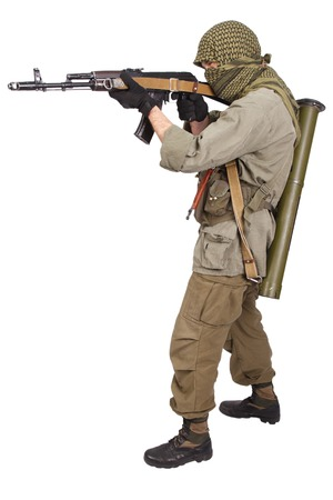mercenary with AK 47 Reklamní fotografie