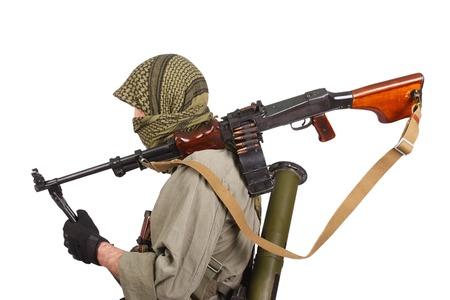 machine gun: rebel with machine gun