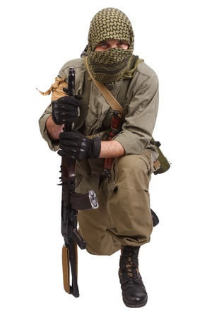 to rebel: rebel with AK 47 Stock Photo