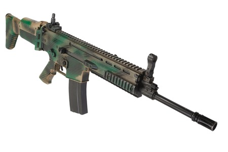 special operations: Special Operations Forces Assault Rifle  isolated Stock Photo