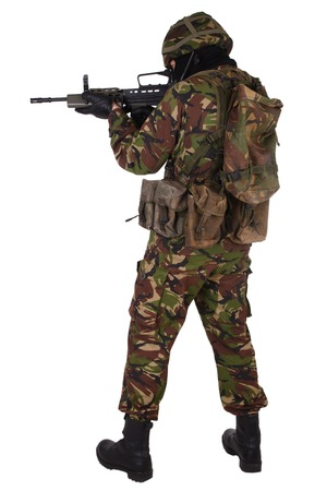 british army: British Army Soldier isolated on white Stock Photo