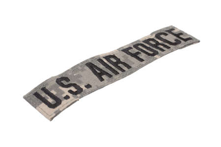 united states air force: us air force uniform badge isolated on white background
