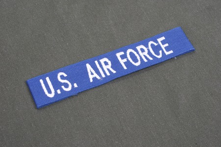 us air force: us air force uniform label Stock Photo