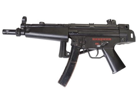 german handgun: submachine gun MP5 isolated on white Stock Photo