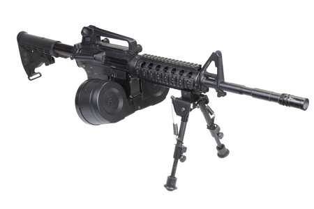 assault rifle assault rifle with bipod isolated on a white backgroundwith bipod isolated on a white background