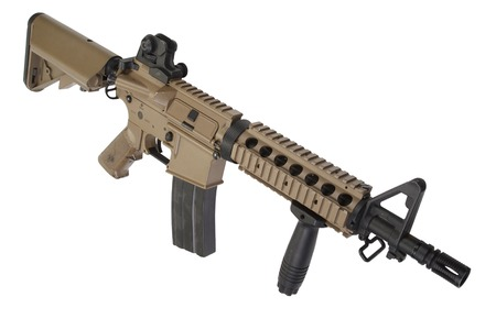 special operations: M4 special forces rifle isolated on a white background