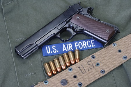 us air force: colt goverment m1911 with us air force uniform