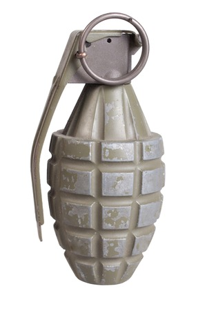 munition: grenade isolated on a white background Stock Photo