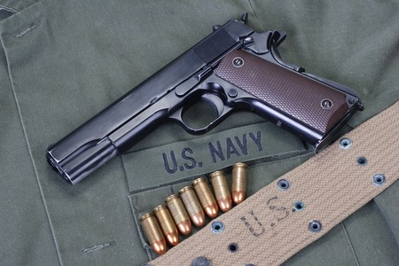 cal:  m1911 with us navy uniform