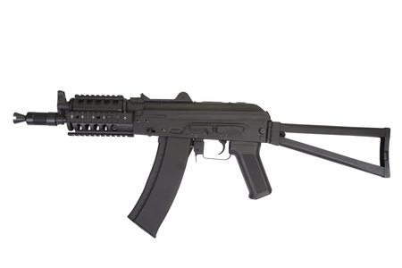 ak47: AK47 shorty  with modern update isolated on white