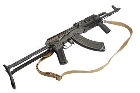 airborn: AK-47 isolated on white Stock Photo