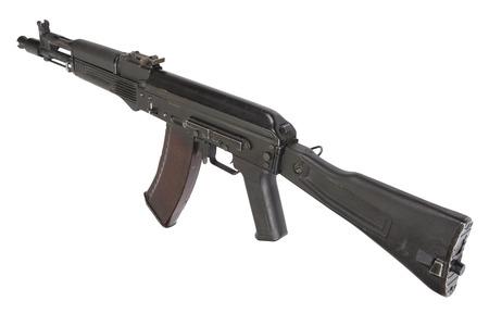 akm: modern AK assault rifle isolated on white