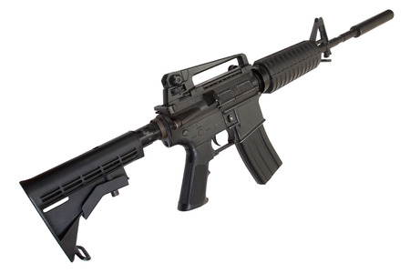 us army: US Army M4 Carbine isolated on a white background