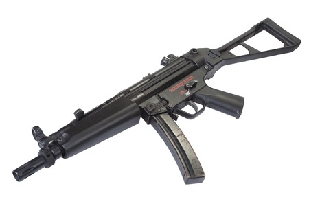 german handgun: submachine gun MP5 isolated on white Stock Photo