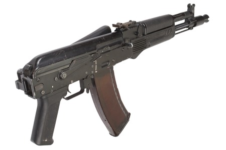 airborn: modern AK assault rifle isolated on white