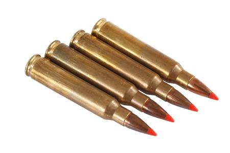 intermediate: 5.56 45mm   intermediate cartridge isolated on white