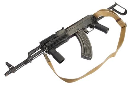 ak47:  AK-47 isolated on white