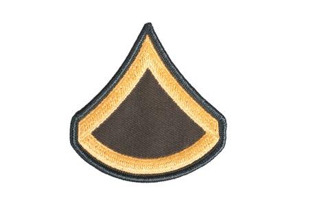 rank: KIEV, UKRAINE - May 9, 2015. US ARMY sergeant rank patch