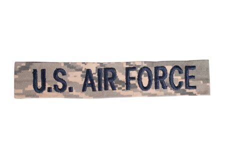 us air force: KIEV, UKRAINE - May 9, 2015. US AIR FORCE uniform badge