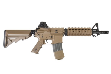 special forces rifle isolated on a white background