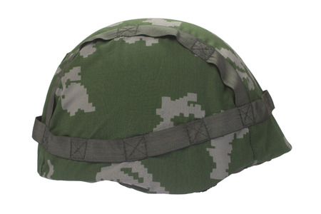 disruptive: russian army helmet isolated on white