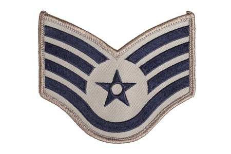 us air force: KIEV, UKRAINE - May 9, 2015. US AIR FORCE sergeant rank patch Editorial