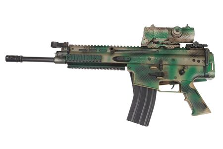 special operations: Special Operations Assault Rifle isolated on white Stock Photo