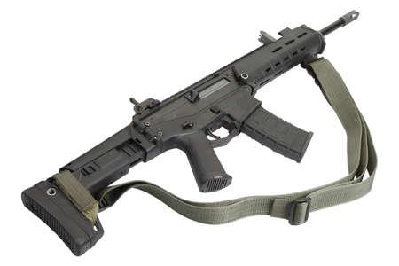 assault: Modern assault rifle isolated Stock Photo