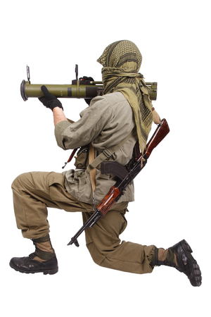 rpg: mercenary with anti-tank rocket launcher - RPG isolated