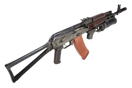 airborn: AK 74  with GP-25 grenade launcher isolated on white