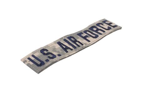 KIEV, UKRAINE - Mar. 29, 2015. Illustrative editorial. US AIR FORCE branch tape uniform badge isolated on white background
