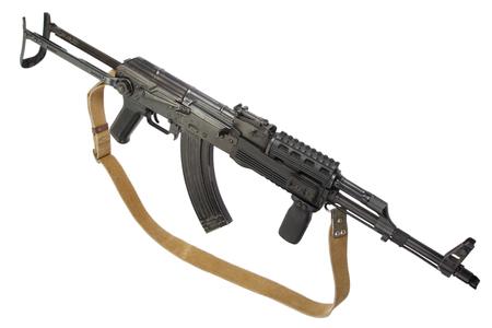 akm: AK-47 isolated on white Stock Photo