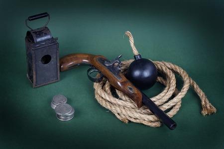 flint gun: Adventurer set background concept