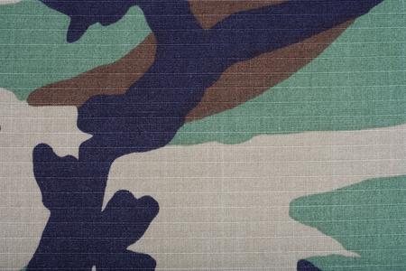 woodland camouflage fabric texture background Stok Fotoğraf