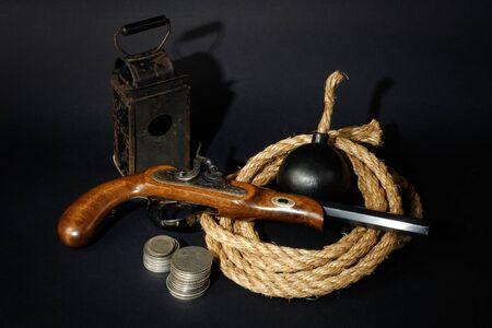 """flint gun: """"Conjunto de aventurero"""" concepto de fondo"""